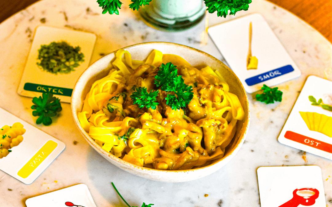 Färsk pasta med kantareller och parmasanost: